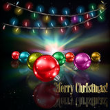 Abstract background with Christmas tree Royalty Free Stock Images