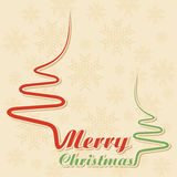 Abstract background Christmas tree with text. Vector illustration vector illustration