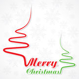 Abstract background Christmas tree with text. Vector illustration royalty free illustration