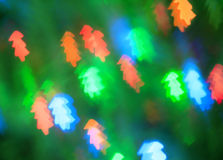 Abstract background with christmas trees Stock Image