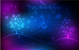 Abstract background with Christmas trees. Abstract Christmas card background with Christmas trees Royalty Free Stock Images