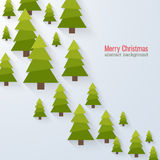 Abstract background with christmas trees. Royalty Free Stock Photography