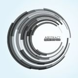 Abstract background with circle. Abstract monochrome circle background with place for your text Royalty Free Stock Photography