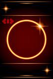 Abstract background-Circle Border with lens star. Vector Illustration Stock Photos