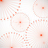 Abstract background from circle. Abstract background with dots and lines. Vector Illustration. Eps10 Stock Image