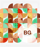 Abstract background of circle elements. Vector template background for workflow layout, diagram, number options or web design Royalty Free Stock Images
