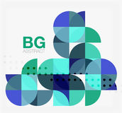 Abstract background of circle elements. Vector template background for workflow layout, diagram, number options or web design Royalty Free Stock Photography