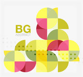 Abstract background of circle elements. Vector template background for workflow layout, diagram, number options or web design vector illustration
