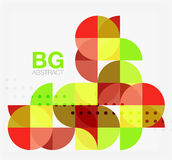 Abstract background of circle elements. Vector template background for workflow layout, diagram, number options or web design Royalty Free Stock Photo