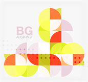 Abstract background of circle elements. Vector template background for workflow layout, diagram, number options or web design Stock Image