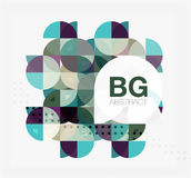 Abstract background of circle elements. Vector template background for workflow layout, diagram, number options or web design Stock Images