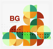 Abstract background of circle elements Stock Image
