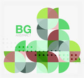 Abstract background of circle elements. Vector template background for workflow layout, diagram, number options or web design stock illustration
