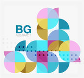 Abstract background of circle elements. Vector template background for workflow layout, diagram, number options or web design royalty free illustration