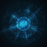 Abstract  background. Circle Futuristic vector Royalty Free Stock Image