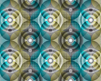 Abstract background of a circle. Of gray blue and yellow flowers Royalty Free Stock Image