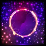 Abstract background with a circle with light effects Stock Image