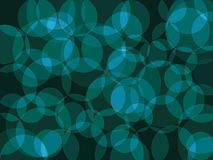 Abstract background. Circle orb dark turquoise blue green abstract vector background Stock Images