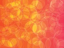 Orange pink bubble background. Circle orb sunset orange red bubble abstract vector background vector illustration