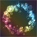 Abstract background with circles Stock Image
