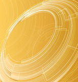 Abstract background of circles. Abstract orange background with lines and circles Royalty Free Stock Image