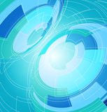 Abstract background of circles. Abstract blue background with lines and circles Royalty Free Stock Photo