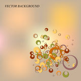Abstract background with circles. Vector illustration royalty free illustration