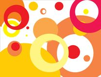 Abstract background with circles vector illustration