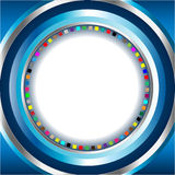 Abstract Background with Circles. Vector illustration of an abstract blue background composed of colorful circles with space for text Royalty Free Stock Photos