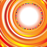 Abstract Background with Circles. Vector illustration of an abstract orange background composed of colorful circles with space for text Royalty Free Stock Image