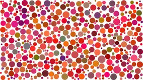 Abstract background of circles. Of different sizes in shades of red colors on white background stock illustration