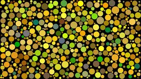 Abstract background of circles. Of different sizes in shades of yellow colors on black background royalty free illustration