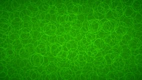 Abstract background of circles. Abstract background of randomly arranged contours of circles in green colors Stock Illustration
