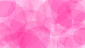 Abstract background of circles. Abstract background of translucent circles in pink colors Royalty Free Illustration