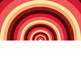 Abstract background of circles. Bright colors. Half of the image. White background stock illustration