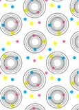 Abstract background with circles of different colors and circles. Of black lines vector illustration