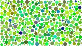 Abstract background of circles. Of different sizes in shades of green colors on white background vector illustration