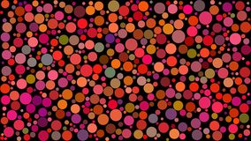 Abstract background of circles. Of different sizes in shades of red colors on black background stock illustration