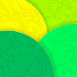 Abstract background with circles and doodle texture green yellow for template of flyers or banners Stock Photography