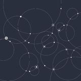 Abstract background with circles and dots. Connection concept. Vector illustration Stock Photography