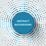 Abstract background with circles halftone Stock Photography