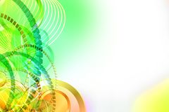 Abstract background with circles on the left side. Royalty Free Stock Photo
