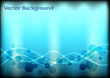 Abstract background with circles and lines. Abstract background with glowing circles and lines vector illustration