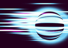 Abstract background with circles and lines motion Royalty Free Stock Photo