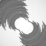 Abstract background of circles with lines. Technology backdrop, geometric shapes Royalty Free Illustration