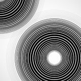 Abstract background of circles with lines. Technology backdrop, geometric shapes vector illustration