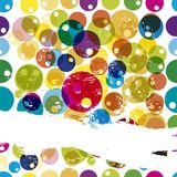 Abstract background. With circles and a paint stroke for your copy vector illustration