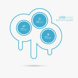 Abstract background with circles. And place for text. flat Design Stock Illustration