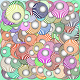 Abstract background with circles. Raster. 2. Raster vector illustration