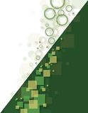 Abstract Background with Circles and Squares. Abstract white and green Background with Circles and Squares stock illustration